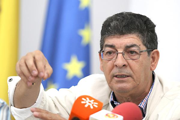 Diego Valderas en Almería. / EFE