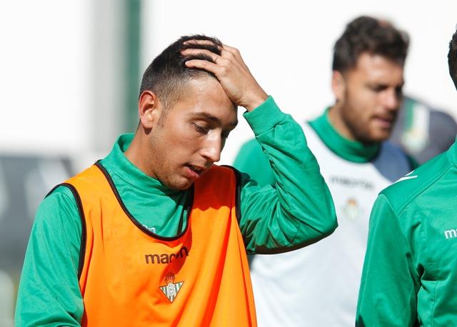 Francisco Varela, en un entrenamiento con el primer equipo / Ramón Navarro