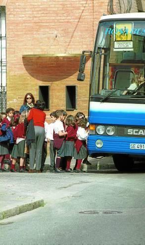 La campaña de control del transporte escolar comenzó en septiembre. / Paco Cazalla