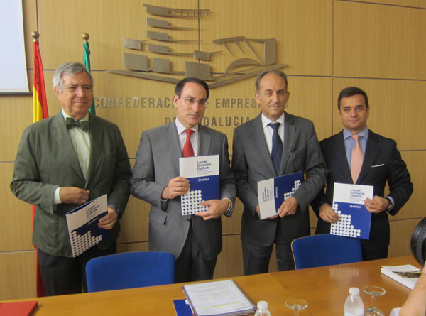 Manuel Ángel Martín, Javier González de Lara, Gabriel Pérez Alcalá y Manuel Alejandro Cardenete, ayer. / EP