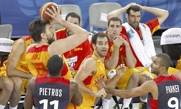 Semifinal del Eurobasket de Eslovenia disputada entre España y Francia. / Rafa Casal