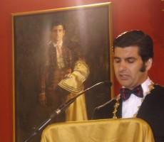 El torero Morante de La Puebla durante su discurso. Foto: A. P.