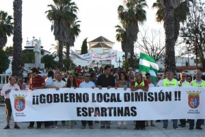 Manifestación que pedía la dimisión del alcalde.