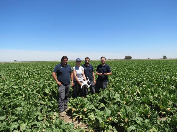 El equipo de investigación que lidera el profesor Manuel Pérez, tercero por la izquierda, haciendo un trabajo de campo. / El Correo