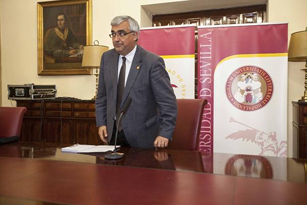 El rector de la Hispalense, Antonio Ramírez de Arellano. / J.M. Espino