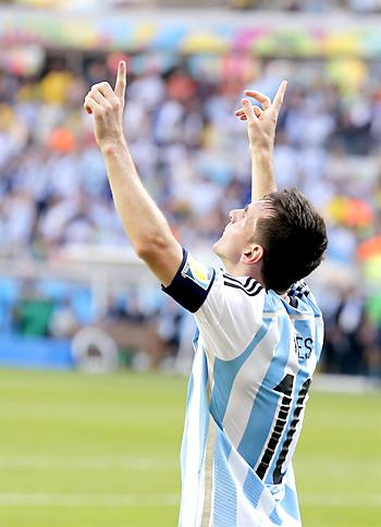 Messi celebrando el tanto. / EFE