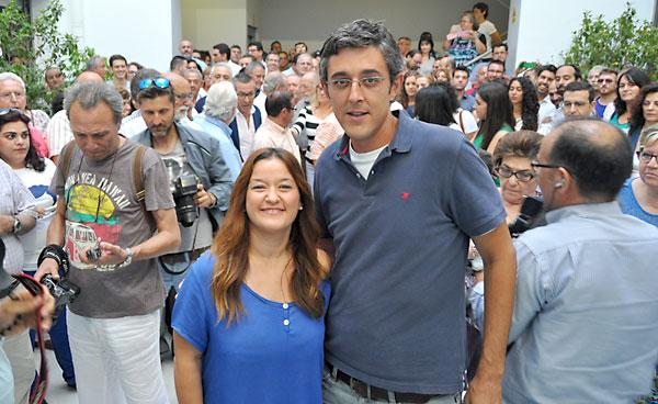 Eduardo Madina junto a Verónica Pérez, secretaria general del PSOE de Sevilla.