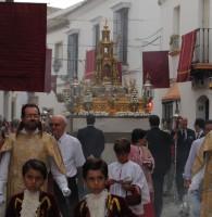 Marchena disfrutó ayer de la procesión del Corpus Christi. Foto: María Montiel