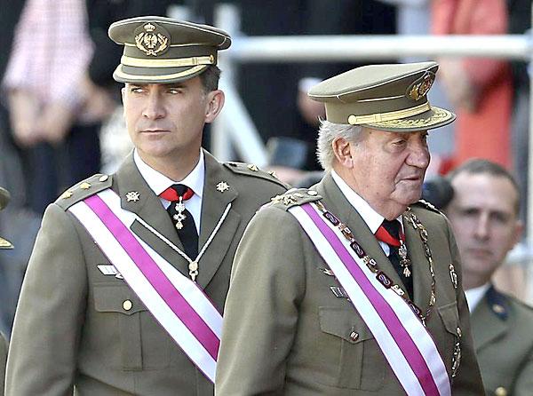 El Rey Juan Carlos y el Príncipe Felipe, en el Escorial el pasado martes. / EFE