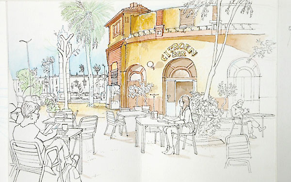 Uno de los dibujos que participan en el concurso por el centenario del parque.