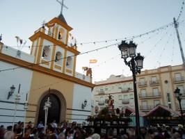 La velada del Sagrado Corazón congregó a numerosos palaciegos. / ÁLVARO ROMERO