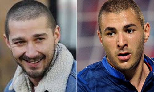 Shia LaBouf y el francés Karim Benzema.