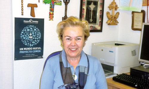 Soledad Suárez, presidenta de Manos Unidas, afirma que una de las cosas que más le encanta de la asociación es que son muy abiertos. / Foto: M.J.A.