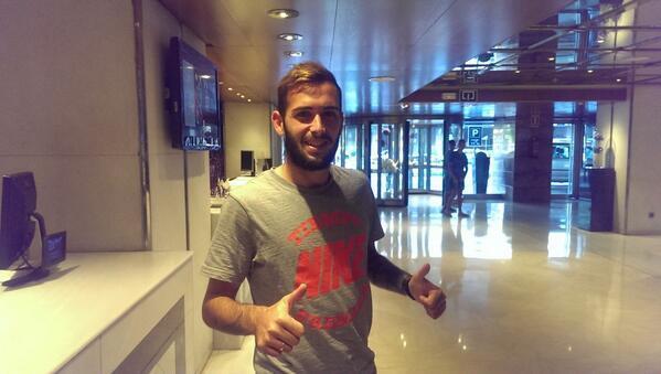 Aleix Vidal, esta tarde en el hotel Los Lebreros / Foto: Muchodeporte.com