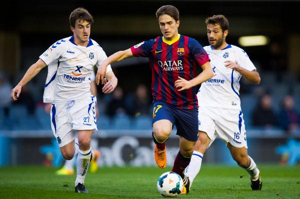Denis Suárez, en un partido del Barça B (Foto: Álex Caparrós)