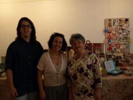 Samuel, Yolanda y María, creadores de la exposición.