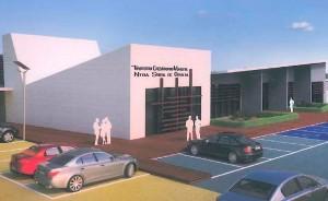 Recreación del futuro tanatorio-crematorio de Carmona que se iniciará en breve. Foto: E. García