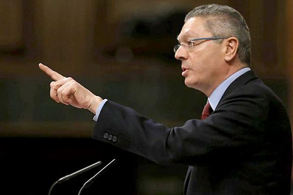 El ministro de Justicia, Alberto Ruiz Gallardón. / EFE