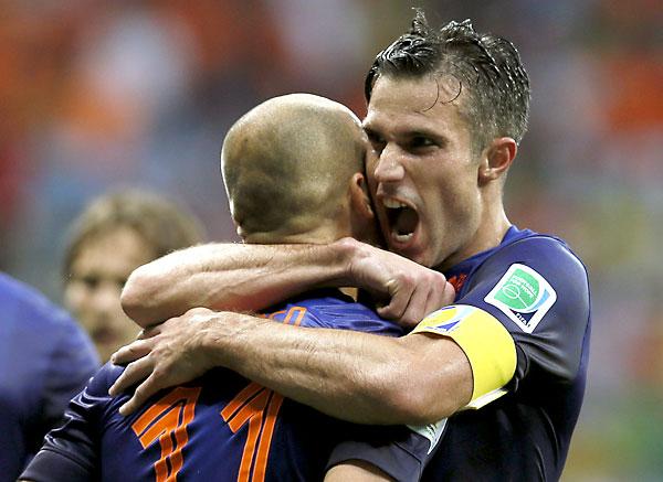 Van Persie y Robben. / EFE
