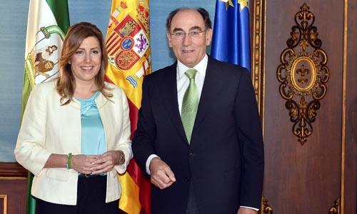 Susana Díaz y el presidente de Iberdrola, Ignacio Sánchez Galán, este viernes. / EFE