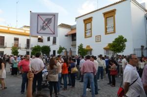 Una de las protestas de la ciudadanía contra la amplicación de la zona azul. Foto: S. Criado