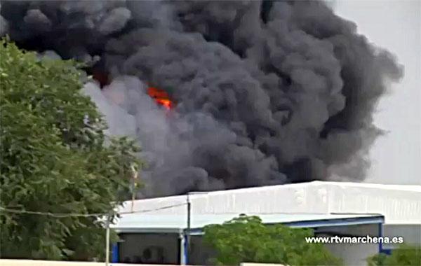 Imagen del incendio. / www.rtvmarchena.es