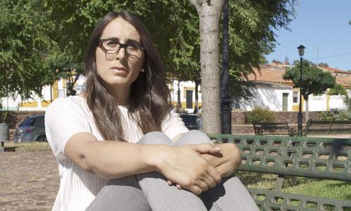 María Pachón Monge, la primera mujer incorporada al ejército español siendo ya transexual, durante una entrevista en el día internacional del Orgullo LGTB. Foto: Efe