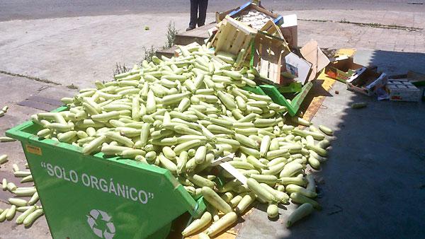 """Género acumulado en Mercasevilla. El comité de empresa ha avisado de la """"acumulación de basura"""" y """"problemas de higiene"""" que sufren las instalaciones. / E.P."""