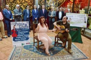 Montse Amador durante su actuación. Foto: Salvador Criado
