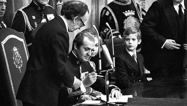Don Juan Carlos fue proclamado Rey en la sede del Congreso de los Diputados. / EFE