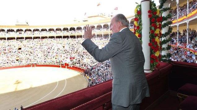 El rey Don Juan Carlos, este martes en las Ventas. / Twitter Casa Real
