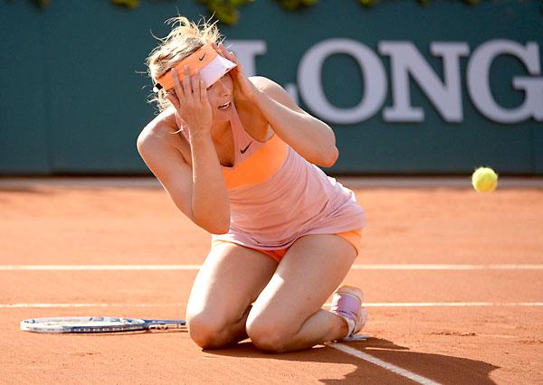 Sharapova celebra la victoria. / EFE