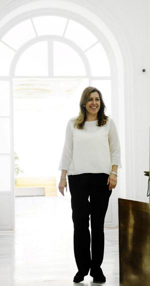 La presidenta de la Junta de Andalucía, Susana Díaz, esta mañana en el Palacio de San Telmo. Foto: EFE