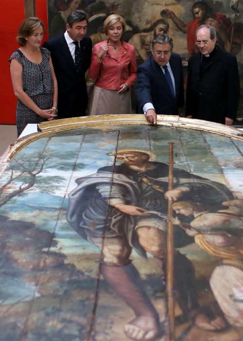 Instituciones públicas y privadas se han unido en esta restauración. / El Correo