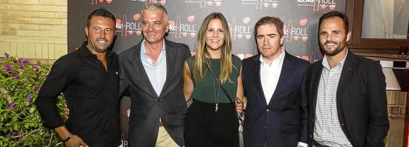Miguel Ángel Cano, de Molière, Ismael Alcón, Sara Castellanos, Eugenio Molina y Miguel Mula, de Coca Cola