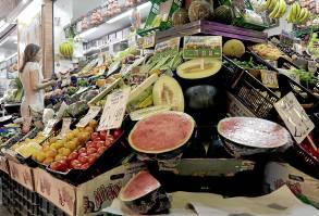 Frutas en el mercado de Triana. Foto: José Luis Montero.