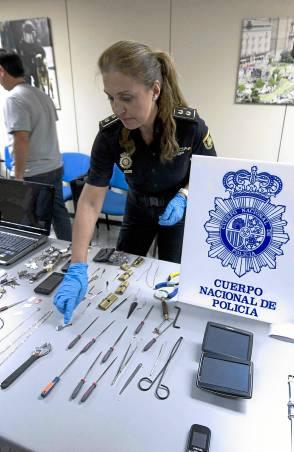 Rueda de prensa de la Policía Nacional tras la operación Nómada