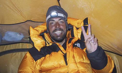 El montañero Miguel Angel Pérez, de 46 años.