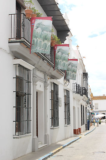 Fachada de la Casa Museo Zenobia y Juan Ramón Jiménez en Moguer.