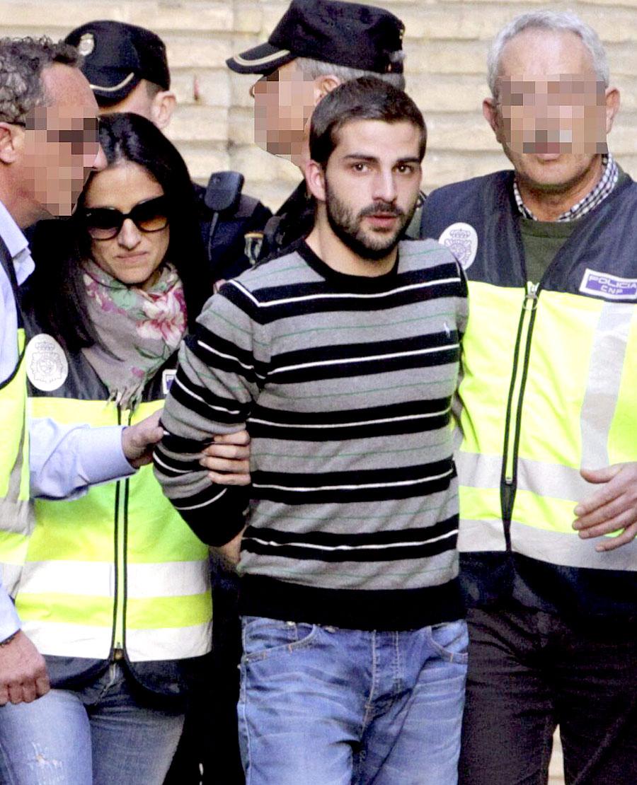 Carcaño en Zaragoza tras someterse al 'test de la verdad'. Javier Cebollada (Efe)