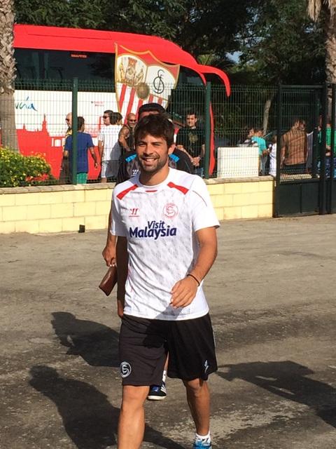 El madrileño Coke Andújar, este miércoles por la mañana en Costa Ballena. /A.F.