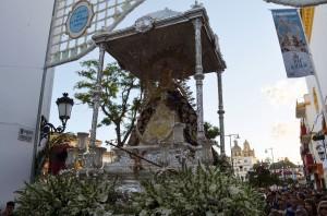La Virgen de Consolación durante una romería, el 1 de mayo. Foto: S. Criado