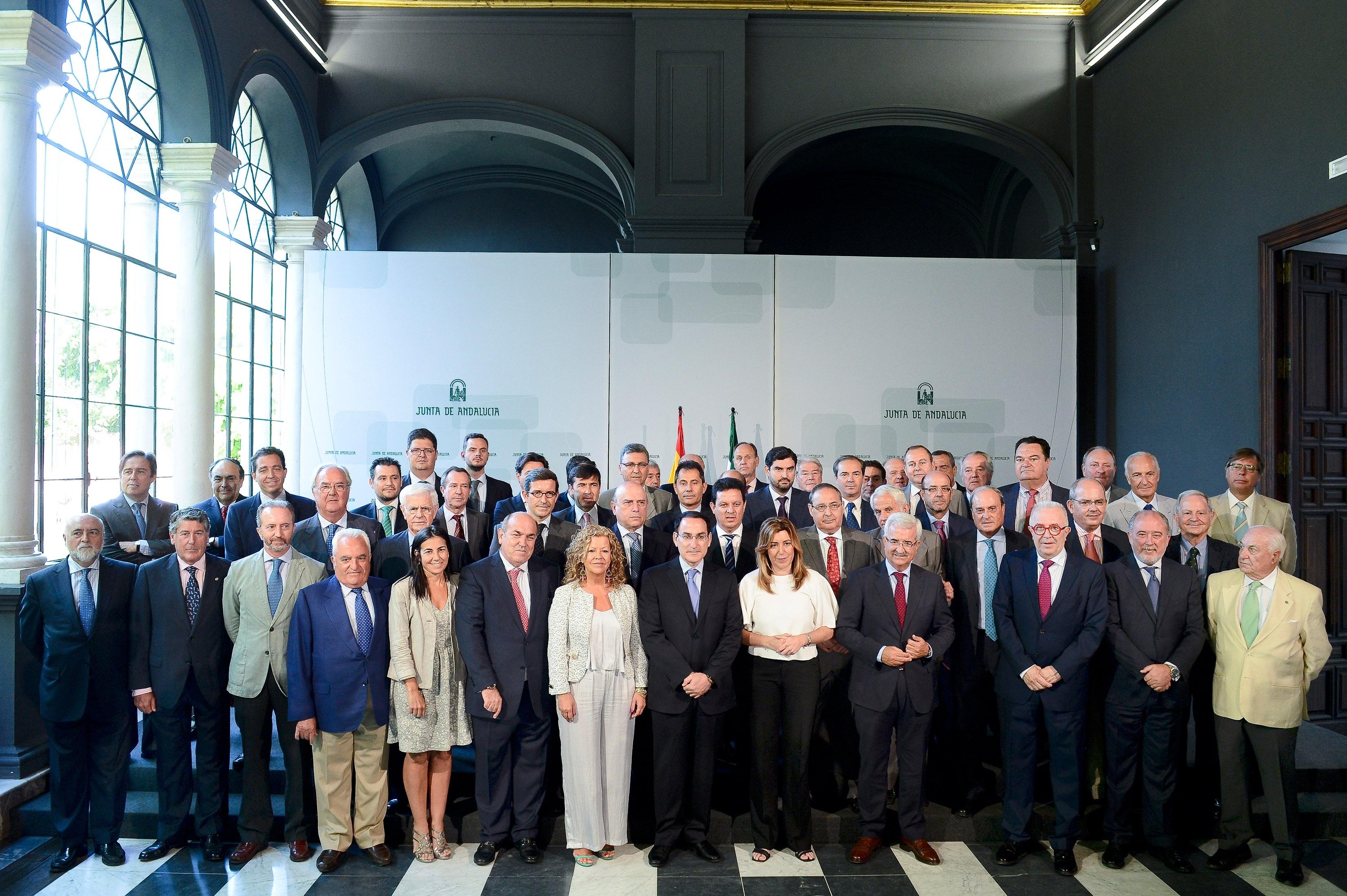 Reunión de Susana Díaz con empresarios andaluces.
