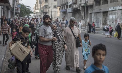Palestinians flee east Gaza neighbourhood