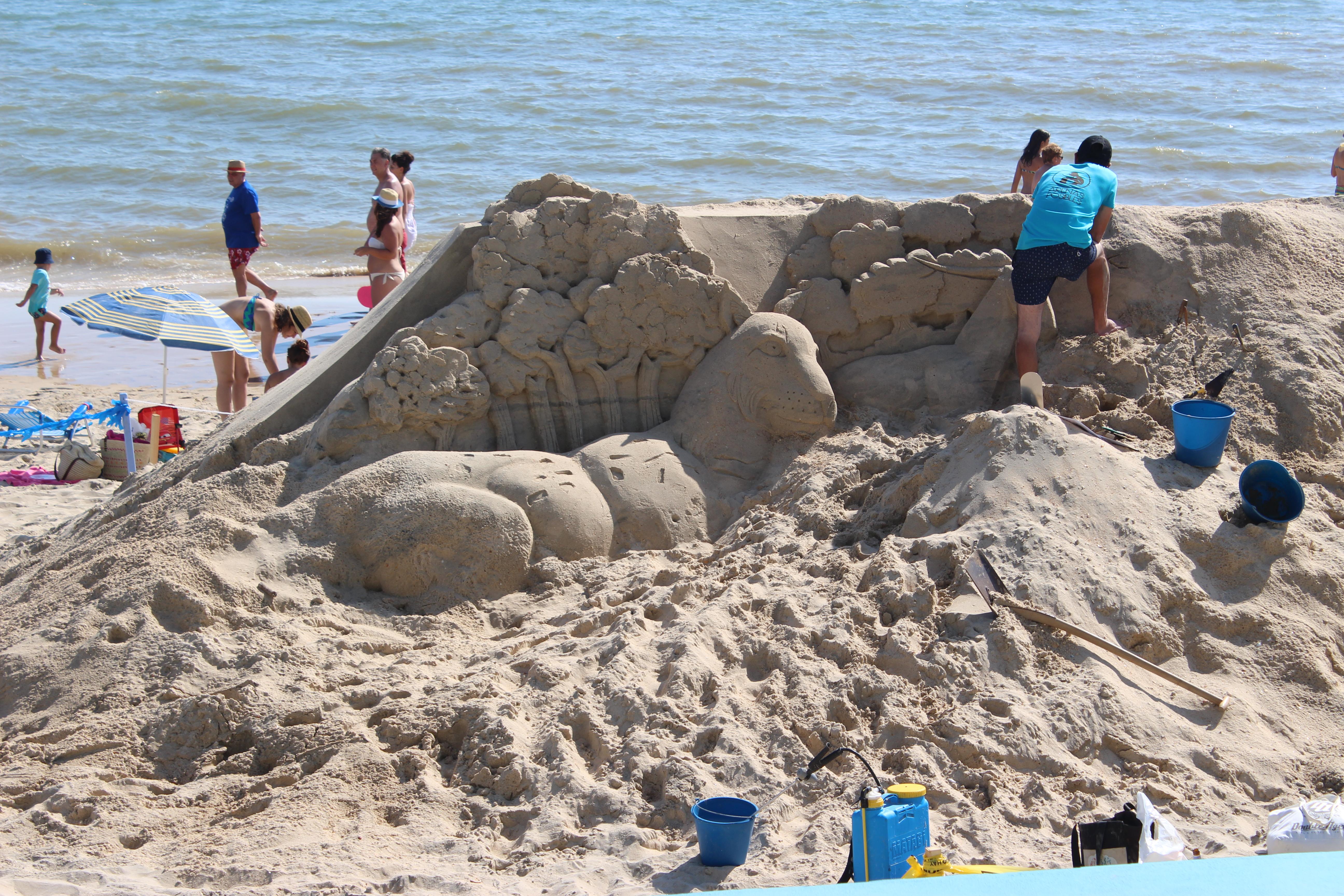 Escultura arena - M. Bautista