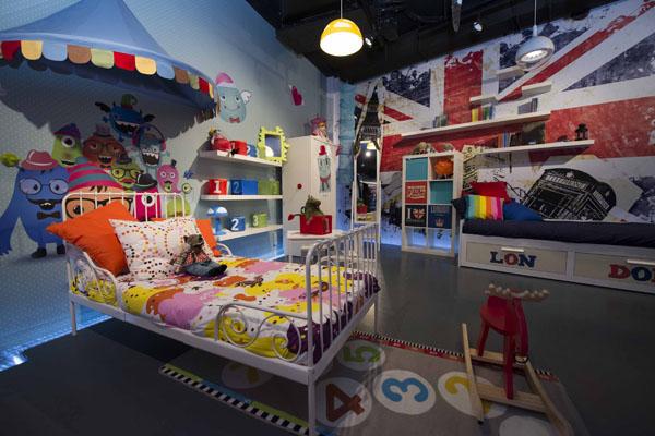 Una habitación de niños es uno del múltiples espacios que se recrean en las instalaciones de la Gota CEM, sede de la asociación ARPA. / Fotos: J.M. Paisano