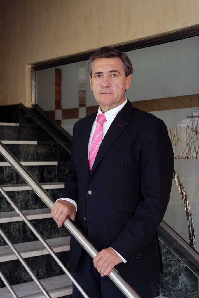 El empresario Juan Tirado, retratado ayer en Sevilla. / José Luis Montero