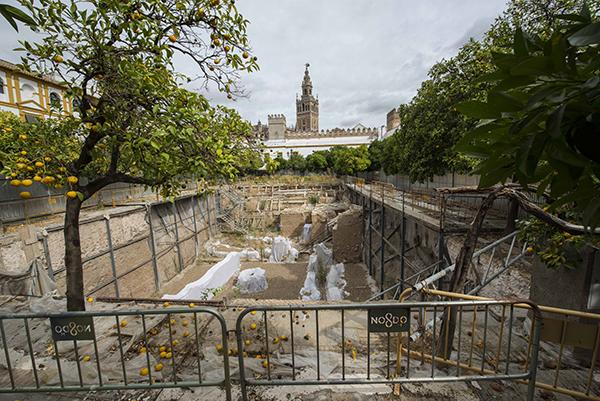 Sevilla 19 07 2014: Patio Bandera.FOTO:J.M.PAISANO