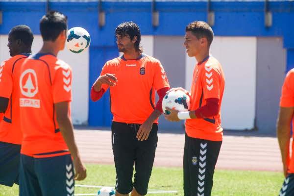 Barbosa, durante un entrenamiento de la Unión Deportiva Las Palmas (Foto: Gerardo Ojeda)