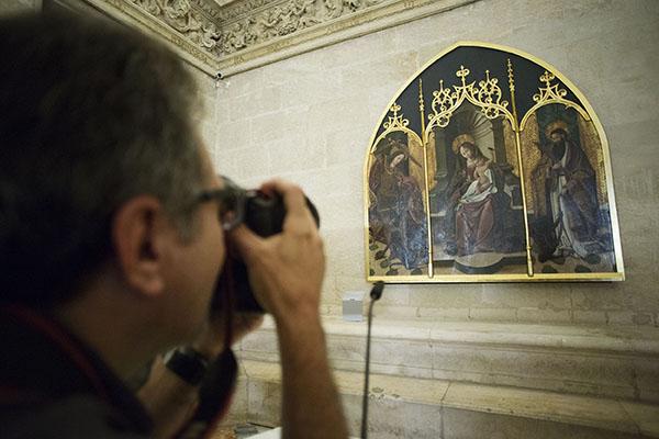 El tríptico luce así después de la restauración a la que ha sido sometido. / Pepo Herrera